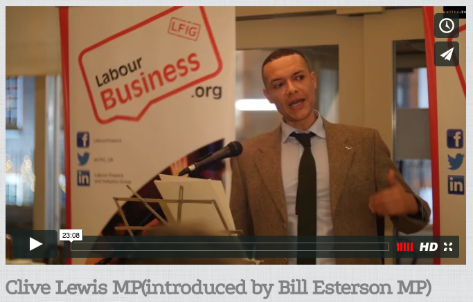 Clive Lewis MP speech at Labour Business Annual Dinner 2016