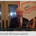 John McDonnell MP, Labour Business Annual Dinner 2016 Speech