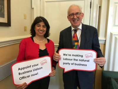 Seema Malhotra MP supports the Labour Business BuLO initiative