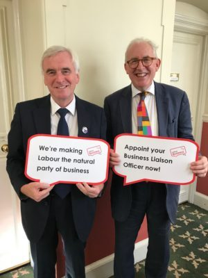John McDonnell, Shadow Chancellor of the Exchequer, supports Labour Business BuLO initiative