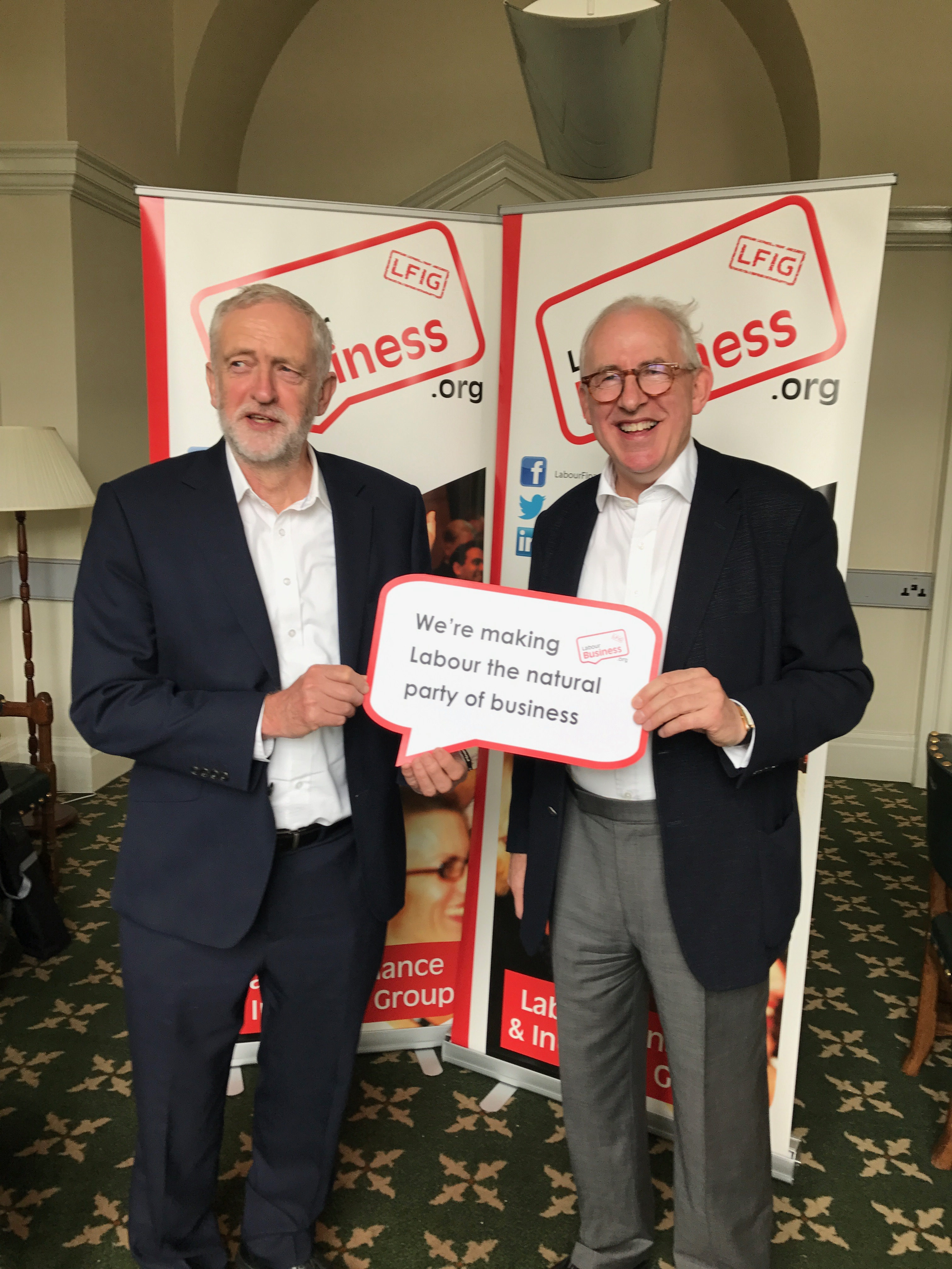 Jeremy Corbyn MP and Hamish Sandison are making Labour the natural party of Business