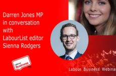 Darren Jones MP in conversation with LabourList editor Sienna Rodgers