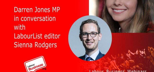Darren Jones MP in conversation with LabourList editor Sienna Rodgers