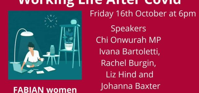 Friday 16th October – 6pm:  Working Life After Corona Virus